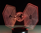 Светильник 3D LED (usb/батарейки) - TIE fighter