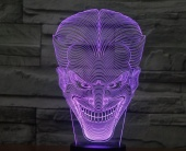 Светильник 3D LED (usb/батарейки) - The Joker face