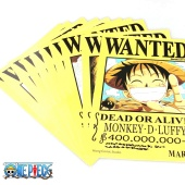 Плакаты One piece WANTED 11шт.