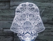 Светильник 3D LED (usb/батарейки) - Darth Vader colored head