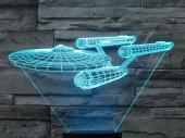 Светильник 3D LED (usb/батарейки) - Enterprise NCC-1701
